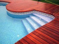 Waterline Pool Tile Ideas pool image 650x271 Ceramic Mosaic Waterline Pool Tiles Black Google Search