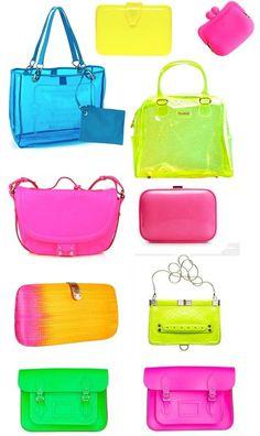 bolsos neon