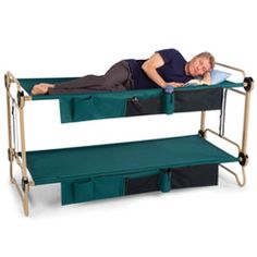 The Foldaway Adult Bunk Beds.  Great for sleep overs or guest, even camping!