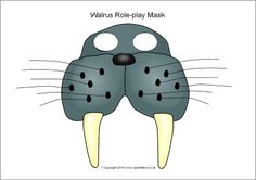 Walrus role-play mask (SB101286) - SparkleBox