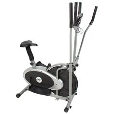 Alitop Elliptical Bike 2 IN 1 Cross Trainer Exercise Fitness Machine. 2 In 1 : This ready to assemble elliptical provides an innovative design that propels the motions of an elliptical cross trainer and a bike. Monitor via the on-board LCD display your time, distance, speed, and calorie count throughout your total body workout. Sturdy steel construction allows for a secure workout machine that will last for years. The adjustable tension knob is provided to fit your need to work out at any...
