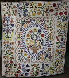 """Medallion Quilt & Floral Border Blocks: """"Auntie Greens Garden"""""""