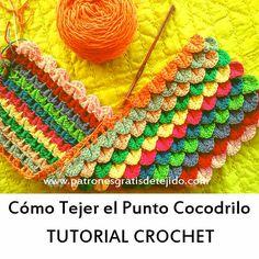 Punto cocodrilo a crochet paso a paso