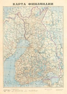 USSR: Peoples Republic of Finland, 1939 This was the plan of the Soviet Union for making Peoples Republic of Finland, after capturing Helsinki, what should have took two weeks for the Red Army. The president would have been Otto-Wille Kuusinen. Historical Maps, Historical Pictures, Finland Map, Globe Decor, Map Globe, Alternate History, Old Maps, Red Army, Vintage Maps