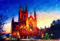 Cathedral, Ireland, Saints, Digital Art, Mary, Facebook, Building, Travel, Viajes