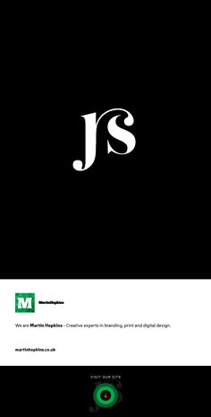 © Martin Hopkins Design, Cardiff - JS Monogram Logo Mark Brand Design