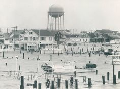 A part of Ocean City is under water after the 1962 flood.