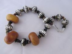 African Amber Necklace by Mary Brown 2012 - SOLD