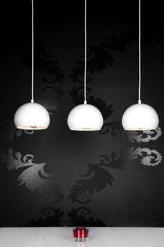 DuNord Hängelampe Hängeleuchte Chromatron Trio weiss Retro Design: Amazon.de: Beleuchtung