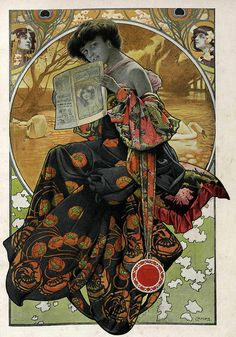 I have never heard of Gaspar Camps, and therefore I suspect a grand conspiracy. Because DAMN. Art Nouveau Mucha, Erte Art, Illustration Art Nouveau, Modernisme, Art Vintage, Academic Art, Alphonse Mucha, Art Graphique, Illustrations And Posters