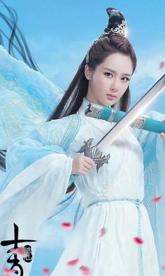 "legend of chusen-----Yang Zi as Lu Xueqi (陆雪琪) Said to be a ""fairy from nine skies"" for her beauty that can enchant the entire country, Lu Xueqi is one of the most skillful and talented disciples of the Noble Sect. She falls for Zhang Xiaofan after undergoing life and death situations with him."