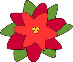 Free Clip Art Borders Poinsettia | Christmas Poinsettia Flower ...