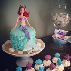 Mermaid Birthday Party Mermaid cakes Mermaid and Cake