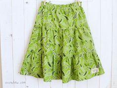Girls Tiered Skirts PDF Pattern