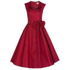 Lindy Bop Grace Swing Dress Red nu t/m - Swing Dress - Jurkjes Vintage Inspired Fashion, Vintage Inspired Dresses, Rock N Roll Kleidung, Vintage Party Dresses, Dress Vintage, Circle Dress, Red Cocktail Dress, Lovely Dresses, La Mode