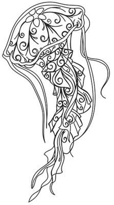 Sea Creatures - Other Jellyfish Light, Pink Jellyfish, Jellyfish Drawing, Jellyfish Aquarium, Colouring Pages, Adult Coloring Pages, Coloring Books, Urban Threads, Aqua Marine