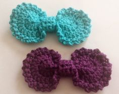 Crochet Oval Bow - Tutorial ❥ 4U // hf