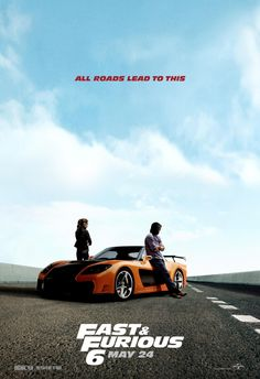 Fast & Furious 6: Extra Large Movie Poster Image - Internet Movie Poster Awards Gallery