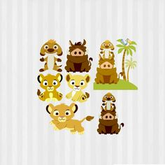 Baby Lion King Clip art Baby Lion King SVG Lion by 5MonkeysClipart