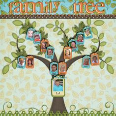 Family Tree - but with Nana as the tree, then her kids, and their families as the branches