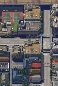 mini sim city! Cyberpunk, How To Pixel Art, Pixel City, Jet Set Radio, Rpg Map, Environment Concept Art, Game Environment, 8bit Art, Pixel Design