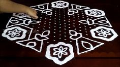 Sankranthi kolam designs with 21-11 middle | chukkala muggulu with dots|...