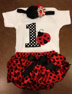 Hey, I found this really awesome Etsy listing at https://www.etsy.com/listing/161133106/birthday-ladybug-outfit