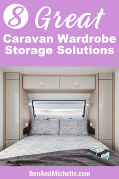 Maximise your caravan wardrobe storage space with these great closet organisation ideas. Whether you're in a motorhome or caravan you can still find ways to store all your clothes with these caravan organisation and storage tips. Motorhome Organisation, Closet Organisation, Rv Organization, Organisation Ideas, Cubby Storage, Hanging Storage, Storage Hacks, Built In Storage, Rv Storage Solutions
