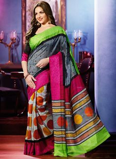 Bollywood Replica Grey & Black Party Wear Saree!! SHOP THIS TRENDY SAREE FROM HERE. Product Code: 5871||2,775/-INR||