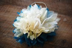 Tissue Paper and Tulle Flower Tutorial. - DIY Crafty Projects