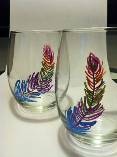 Sharpie wine glasses diy ceramics dishware pinterest for How to decorate wine glasses with sharpies