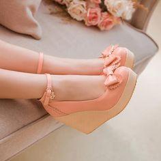 2015 novos chegam de forma sexy cunhas sapatos de salto alto mulheres bombas PU senhoras de couro de tiras no tornozelo sapatos de casamento mulher sapatos Único V657