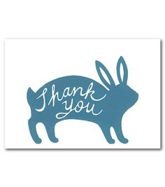 bunny thank you card at Beau Ideal