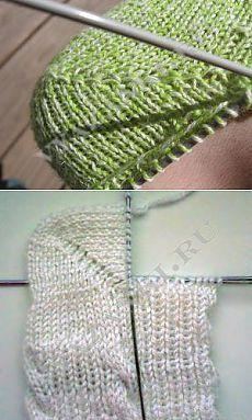 """Выполнение носков с пяткой """"бумеранг"""" - Вязанки.РУ - Все о вязании"""