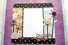 Premade 12 x 12 Scrapbook Page-Baby Girl Page--Spring Time-Easter. $8.00, via Etsy.