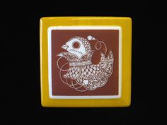 Fused Glass Images, Japanese Bird