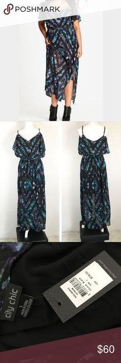 20 Plus Size Graphic Printed Chiffon Maxi Dress Light and floaty and stylish to boot, the Plus Size Graphic Printed Chiffon Maxi Dress will make you the coolest girl around. City chic plus size L/20 City Chic Dresses