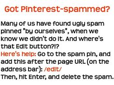 FYI, in case you get Pinterest-spammed..