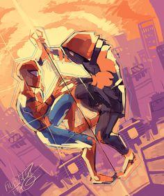 gnarly space ingredient — filibusterfrog: worm up Spiderman Sketches, Spiderman Art, Amazing Spiderman, Marvel Comics, Marvel Fan, Marvel Heroes, Miles Morales, Marvel Wallpaper, Spider Verse