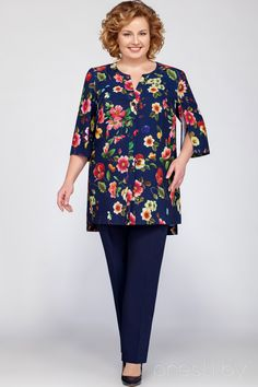 Suit trouser LaKona 1103 - Suit trouser LaKona 1103 The Effective Pictures We Offer You About outfits ideas A quality picture - Big Size Fashion, 60 Fashion, Over 50 Womens Fashion, Fashion Dresses, Kurta Designs, Blouse Designs, Plus Size Tops, Plus Size Women, Plus Size Dresses