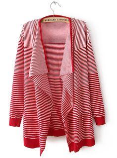 Red Stripes Knitting Cardigan  ($29, originally  $34.8) http://www.udobuy.com/goods-2407.html#.Uh2W69L8m9M