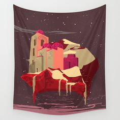 Arabian Space Wall Tapestry by minettewasserman Space Tapestry, Wall Tapestry, Flag, Shirts, Art, Art Background, Kunst, Science, Performing Arts