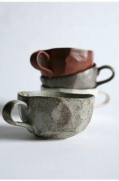 Coffee Cups & Travel Mugs Ceramic Mugs, Ceramic Art, Natural Cups, Little Log Cabin, Coffee Cups, Tea Cups, Rustic Ceramics, Toy Kitchen, Kitchen Stuff