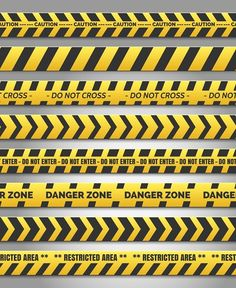 Caution yelow tape set by vectortatu on Under Construction Theme, Construction Design, Free Vector Images, Vector Free, Cartoon Clouds, Camouflage Patterns, Clip Art, Tape, Signs