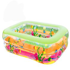 58.89$  Buy now - http://alitvj.worldwells.pw/go.php?t=32655265595 - Bathroom Cartoon Family Center Inflatable Swimming Pool Child Baby Kids Infant Bath Tub Corlorful Baby Swimming Pool 2 size