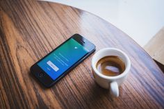 #app #apple #application #coffee #cup #desk #espresso #ios #iphone #log in #sign up #smartphone #social media #technology #twitter