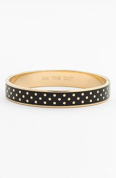 Free shipping and returns on kate spade new york 'on the dot' hinge idiom bracelet at Nordstrom.com. Whether she's a paragon of punctuality or just a polka dot enthusiast, this enameled bangle is a charming accessory that's an excellent addition to a stacked wrist.