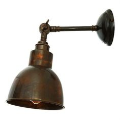 Rugged looking vintage industrial retro solid brass adjustable wall light in 4 finishes – free delivery from Peter Reid Lighting. Vintage Wall Sconces, Vintage Wall Lights, Bathroom Wall Sconces, Modern Wall Sconces, Vintage Walls, Outdoor Wall Sconce, Wall Sconce Lighting, Overhead Lighting, Kitchen Lighting