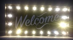Welcome Light up sign £32.00
