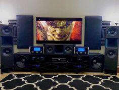 Home Theater Sound System, Home Theatre Sound, Home Theater Setup, Cinema Theatre, Hifi Stereo, Hifi Audio, Best Hifi, Dracula Castle, Living Room Setup